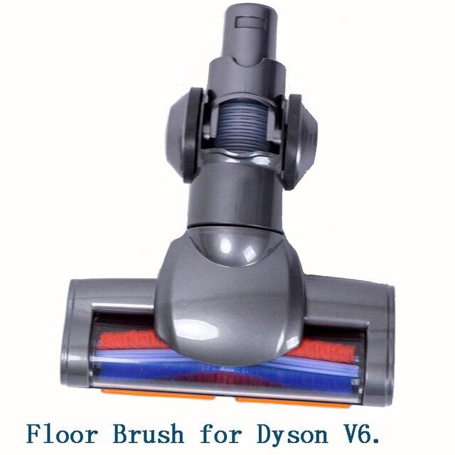 ไฟฟ้าชั้นแปรงหัวฉีด Turbo แปรงสำหรับ Dyson V6 DC44 DC45 DC58 DC59 DC61 DC62 74 เครื่องดูดฝุ่นเปลี่ยนอะไหล่