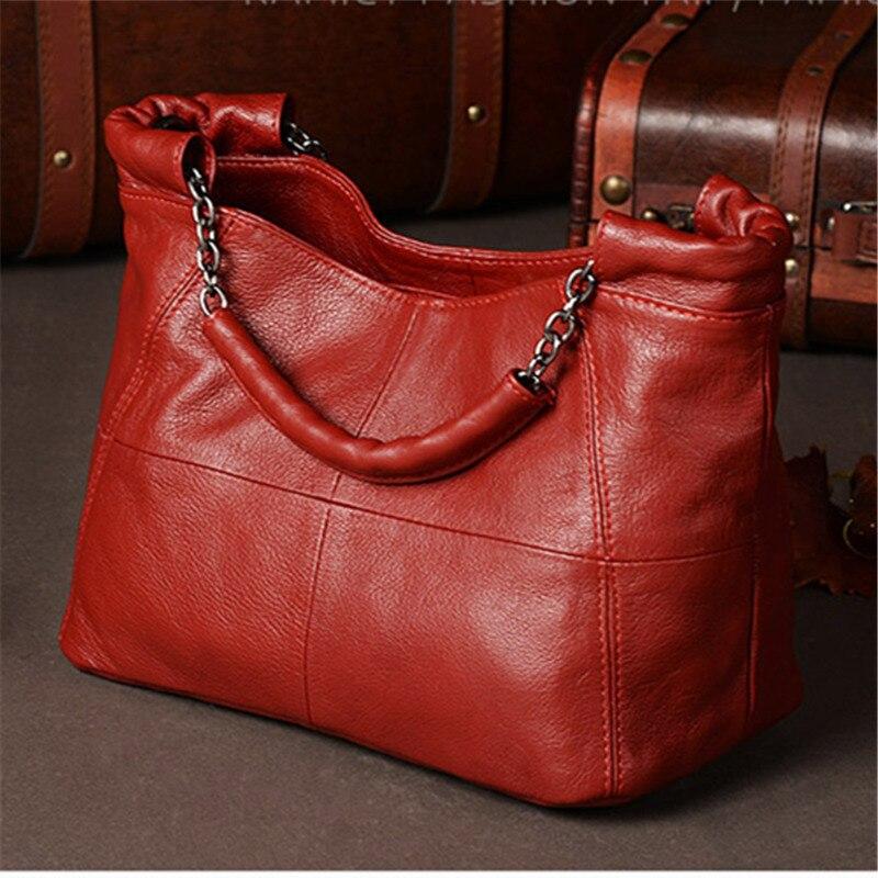 Nesitu New Red Grey White Black Yellow Genuine Leather Women's Handbag Girl Lady Shoulder Messenger Bags Female Totes M8920