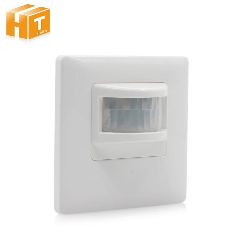 цена на New Mi Light PIR Sensor Infrared IR Switch AC180-240V Wall Type Human Body Induction Automatic Module Light Sensing Switch
