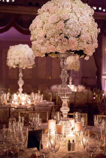 10 pièces pièce maîtresse de Table en cristal de mariage de qualité supérieure/support de fleur/piliers/75 cm de hauteur 15 cm dia accessoires de mariage