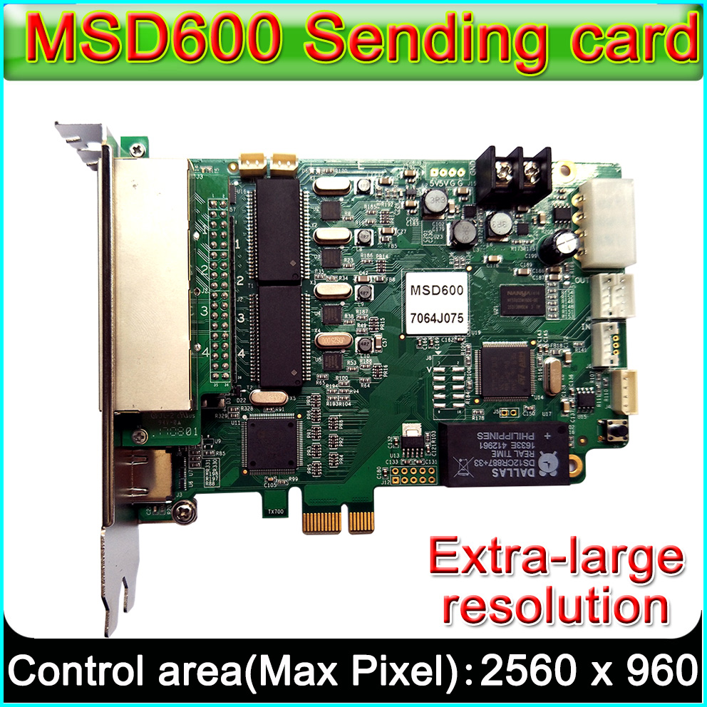 NOVASTAR MSD600 LED Display Sending Card,Outdoor And Indoor Full Color P2.5-P10-P20 LED Video Display Synchronous Controller