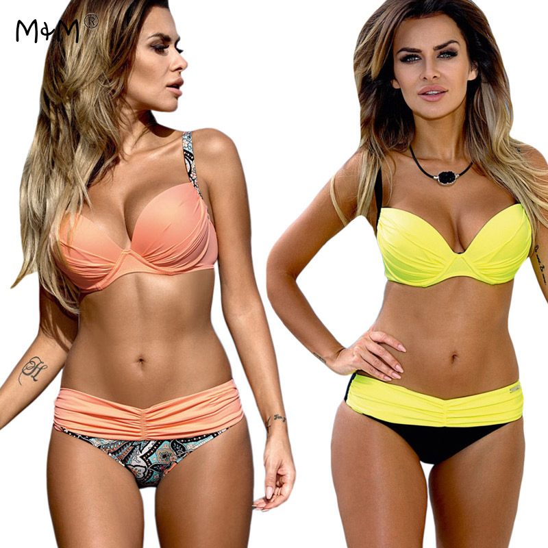 New Sexy Bikinis Women 2017 Push Up Swimwear Female Brazilian Bikini Set Summer Beach Bathing Suit