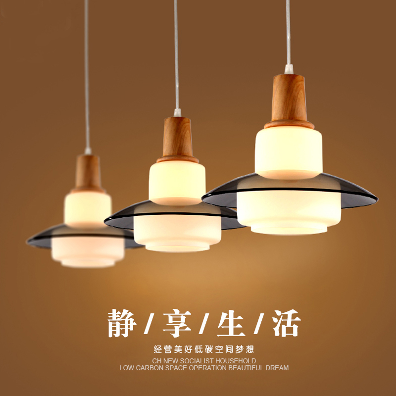 Nordic modern minimalist restaurant LED lights personality creative wooden art chandeliers three headlights chandeliers contemporary and contracted three small droplight nordic restaurant led creative personality art stage chandeliers office lamps