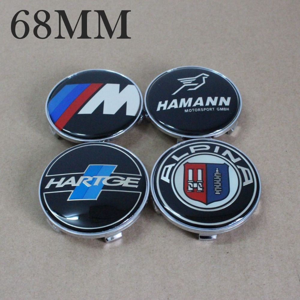 KOM POWER 4pcs 68mm Center Caps Wheel Covers Hub Caps 68mm Wheels Rims Car-Covers Caps BMW ///M HARTGE HAMANN ALPINA