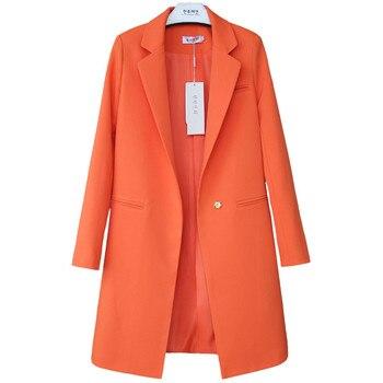 2020 Spring Autumn Blazers Women Small suit Plus size Long sleeve jacket Casual tops female Slim Wild Blazers Windbreaker coat