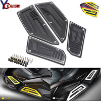 Footrest Pedal Motorcycle Motorbike Footboard Steps Foot Plate for Yamaha TMax530 T Max 530 T Max 530 2012 2013 2014 2015 2016