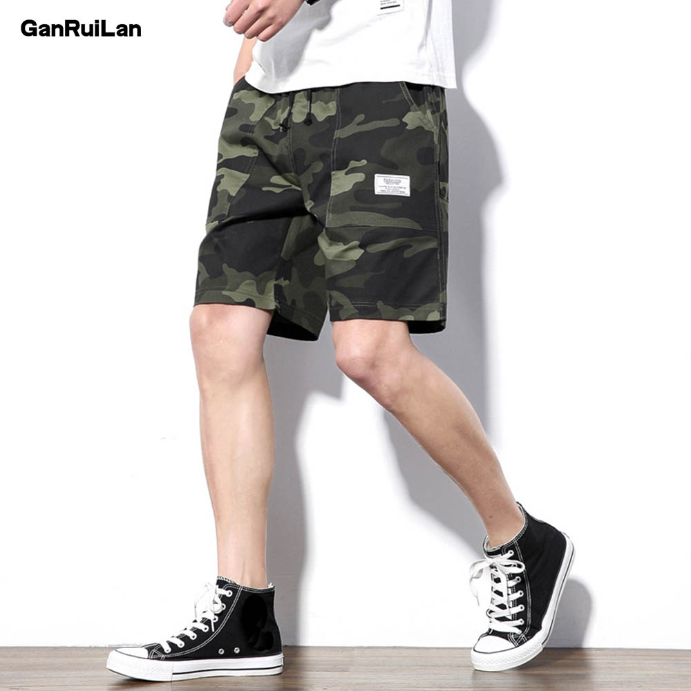 2019 Shorts Men Cool Camouflage Summer Hot Sale Cotton Casual Men Short Pants Brand Clothing Comfortable Camo Men Cargo Shorts