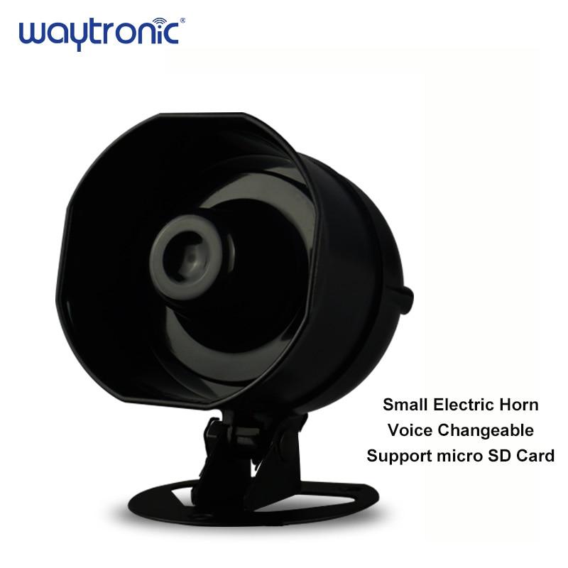 Petite sirène d'alarme de camion de haut-parleur de klaxon de bruit supporte la lecture de carte SD de remplacement de voix