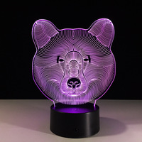 Led Usb 3d Lamp Mini Led Lights Battery Powered Acrylic Night Light Mini Usb Lampara Led
