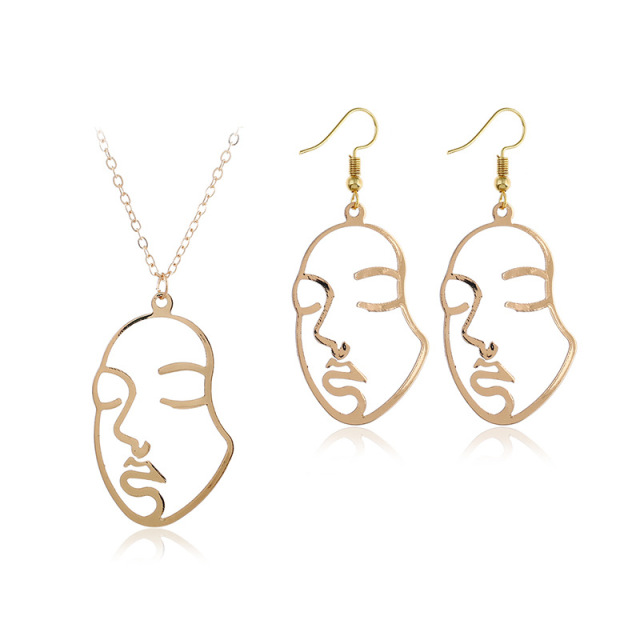 Hollow Face Necklace...