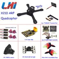 X210 Quadrocopter Mini Drone Professional Carbon Fiber FPV Racing Frame LittleBee 30A DX2205 Motor Matek PDB