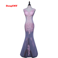 New 2016 Long Sexy V Neck Evening Dress