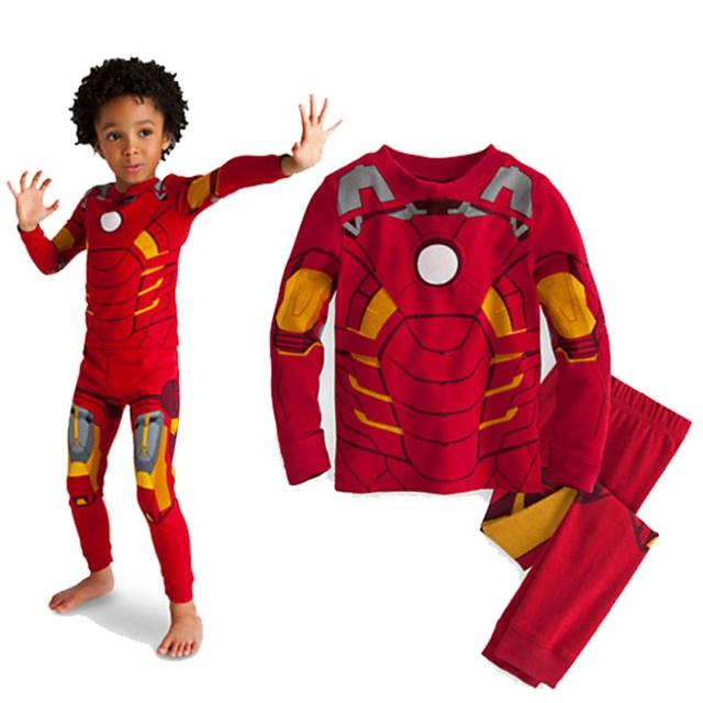 hot sale 2015 cartoon Iron Man cosplay costume long sleeve children pajama setstoddler baby  sc 1 st  AliExpress.com & hot sale 2015 cartoon Iron Man cosplay costume long sleeve children ...