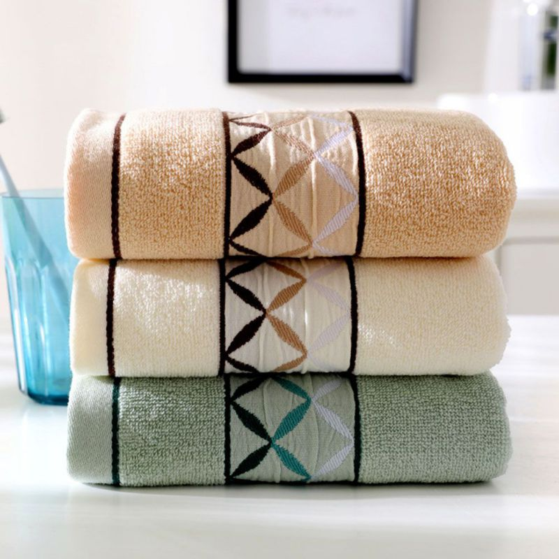 Double Face Technology Towel: 2 Strips Towel Fabric Soft Double Sided Limited Stock