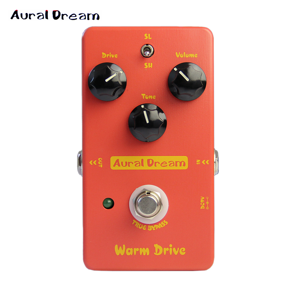 Aural Dream Overdrive Effect Pedal for Guitar / True Bypass Warm Drive Guitar Effects / Electric Guitar Effectors PROMOTION aroma adr 3 dumbler amp simulator guitar effect pedal mini single pedals with true bypass aluminium alloy guitar accessories