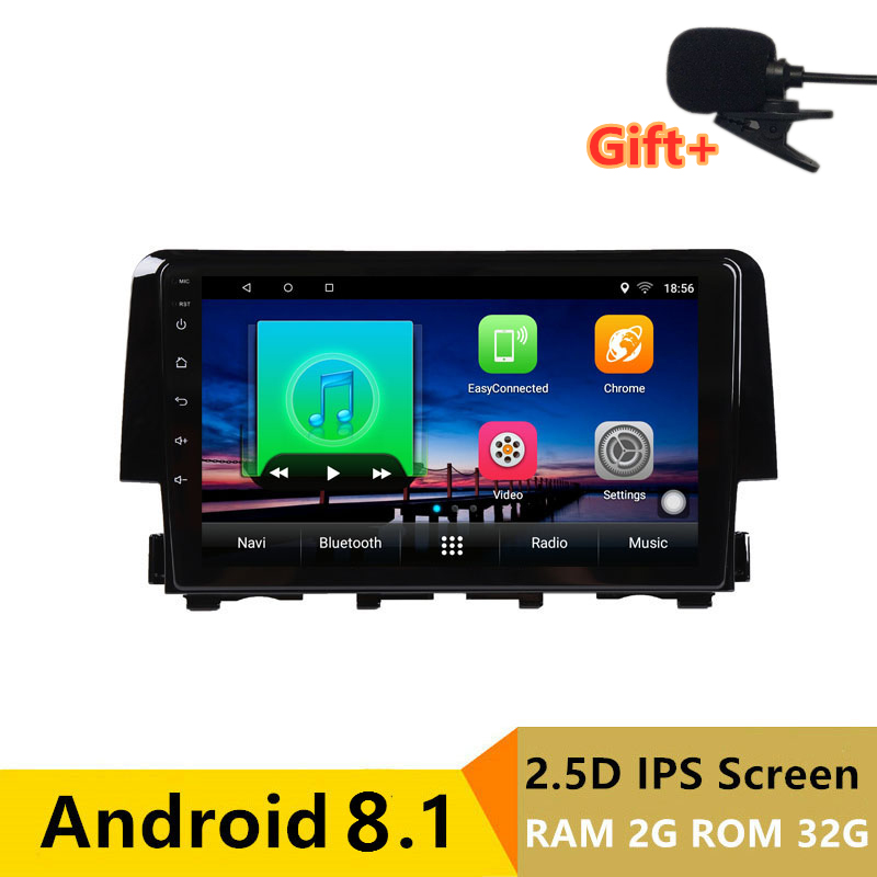 "9"" 2G RAM 32G ROM Android Car DVD Video Player GPS For honda CIVIC 2016 audio car radio stereo navigation headunit wifi"