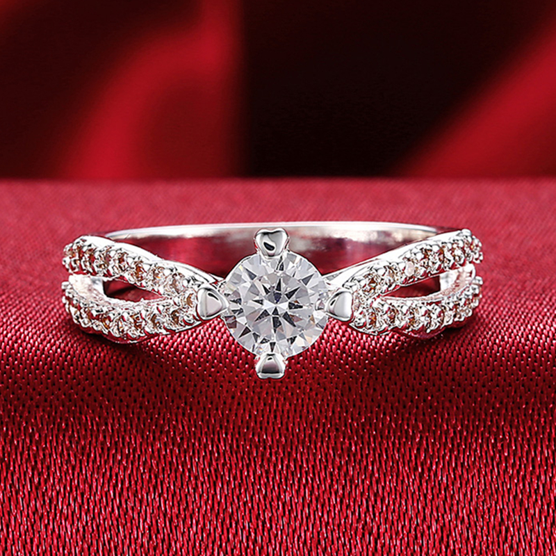 Pure Silver 925 Rings for Women Cubic Zirconia Engagement Wedding Ring Anel Luxury Bridal Jewelry Accessories Anniversary Gifts