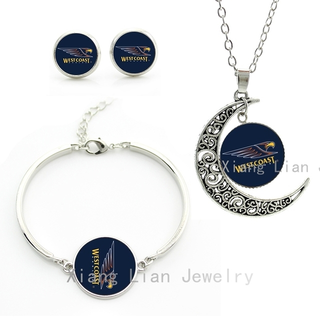 Vintage cool animal birds eagle bijoux femme case for west coast american baseball necklace earrings bracelet jewelry set M91