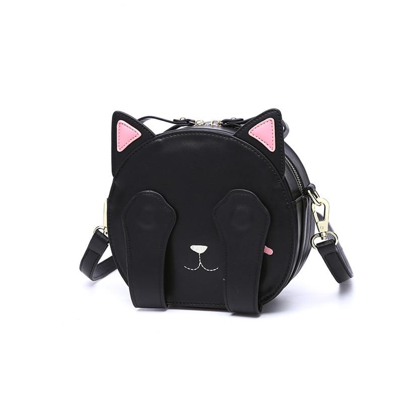 Cat Cross Body Bag Սև ձեռքի պայուսակ Cute - Պայուսակներ - Լուսանկար 2
