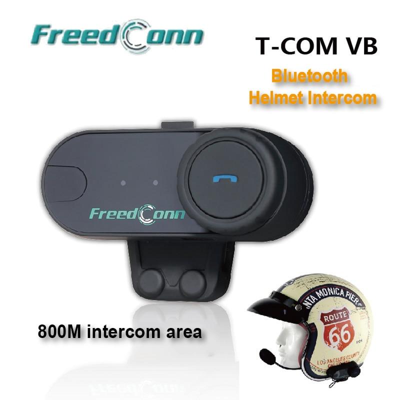 800M BT Motorcycle Helmet Intercomunicador Motocross Bluetooth Intercom Motorbike Interphone Moto Headset Freedconn  TCOM VB intercom bt motorcycle helmet bluetooth bluetooth intercom - title=