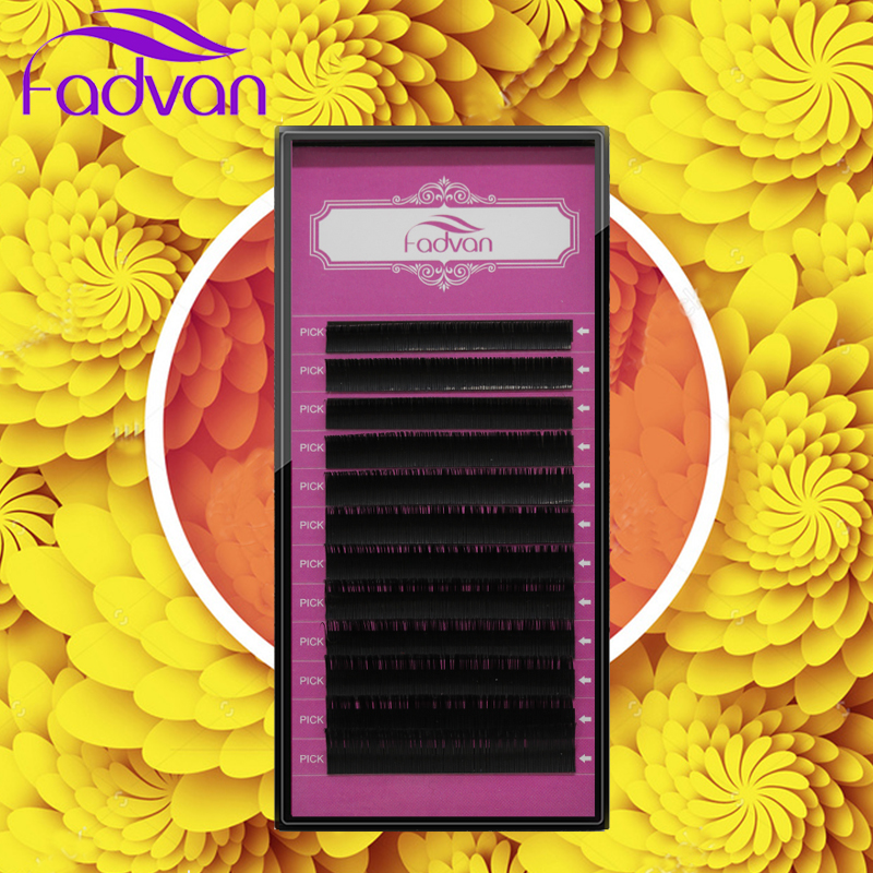 Eyelash Extension All Size 12 Rows/Tray Wholesale Volume Extension Eyelashes 3D Mink False Eyelash Beauty Case