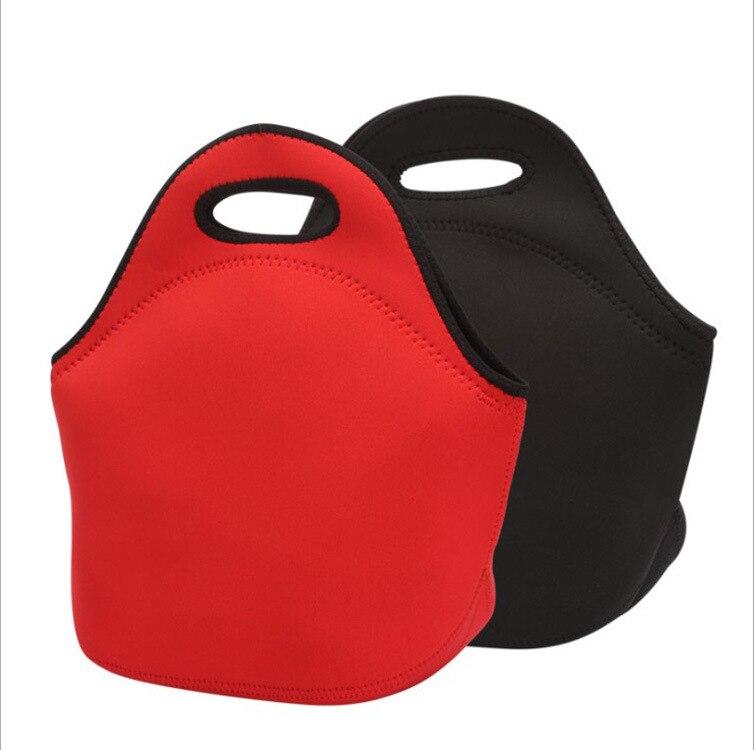 Neoprene Food Bag Bolsa Termica Red Black Lunch Bag Coffee Thermal Lunch Box Bag Picnic Bag For Kids Women