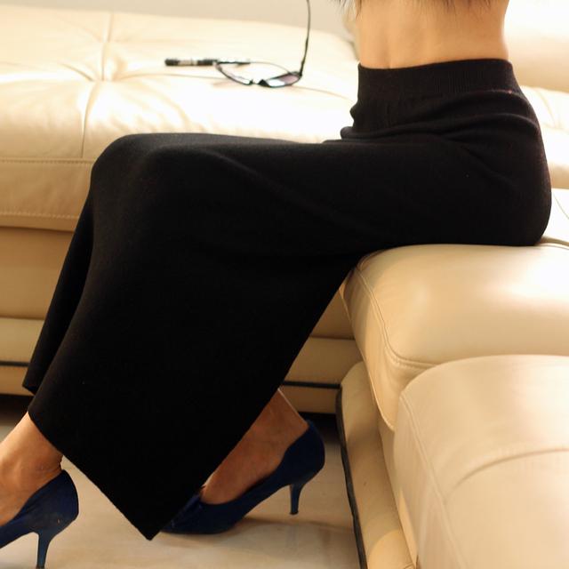 Nueva 2014 Otoño Invierno Corto Faldas Mujer de Cintura Alta Falda Plisada de Lana Falda Femenina Para La Mujer