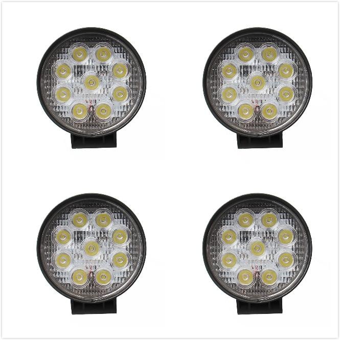 ФОТО 4pcs  ATV 4inch 27W led work light lamp 12V LED tractor work lights bar  spot offroad off road 4X4 accessories car truck 24V
