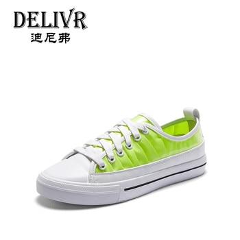 Delivr Vulcanized Shoes Ladies Flats Fashion 2019 Summer Women Casual Sneakers Harajuku Basic Schoenen Vrouw Zapatillas Mujer