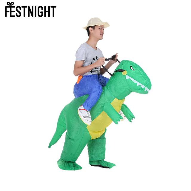 Cute Adult Inflatable Dinosaur Costume Suit Air Fan Operated Walking Fancy  Dress Party Outfit T Rex Inflatable Animal Costume-in Party DIY Decorations  from ... 30537ff04c59