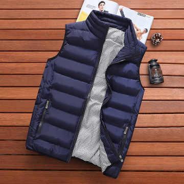ยี่ห้อเสื้อผ้าเสื้อกั๊กเสื้อผ้า Mens ใหม่ฤดูใบไม้ร่วงเสื้อแจ็คเก็ตชายฤดูหนาว Casual Waistcoat ชายเสื้อกั๊กขนาด Veste Homme