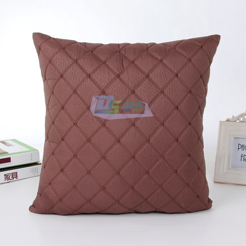 Varmhus 43 см х 43 см из искусственной кожи швейная Embroid черный/коричневый наволочка Чехлы для опираясь диван служебный автомобиль Декор