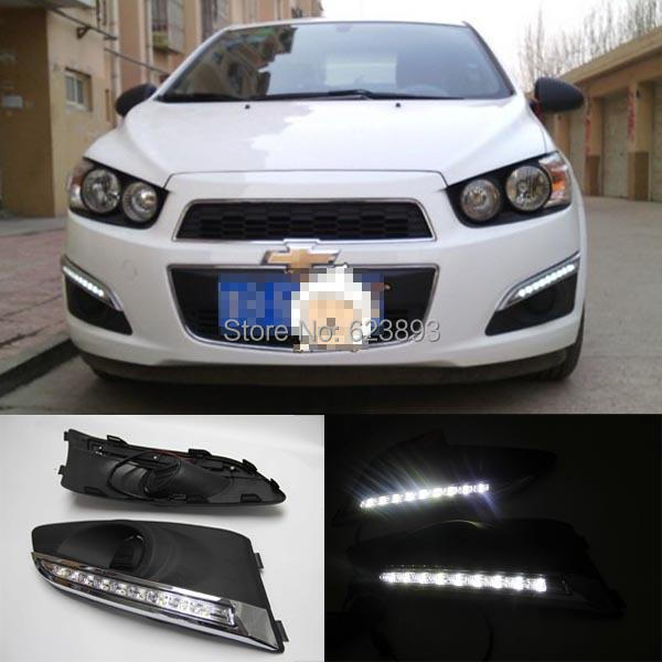 Free Shipping2x White Led Daytime Day Fog Lights Car Styling Drl