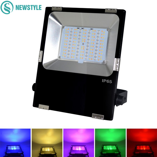 Mi Light 10W 20W 30W 50W LED Floodlight IP65 AC85-265V Waterproof RGB + CCT LED Flood Light For Outdoor Lighting 25% off 2017 modern style ultrathin led flood light 30w 50w ac85 265v waterproof ip65 floodlight spotlight outdoor lighting