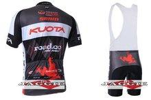 3D Силикон! 2011-2 KUOTA велосипедной команды джерси и нагрудник шорты/короткий рукав майки брюки велосипед носить одежду, установленные