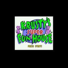 Krusty's Super Fun House 16 бит большая серая игровая карта для NTSC Game Player Прямая
