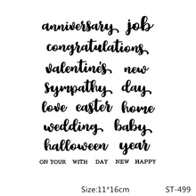 купить ZhuoAng wedding Clear Stamp for Scrapbooking Rubber Stamp Seal Paper Craft Clear Stamps Card Making по цене 203.86 рублей