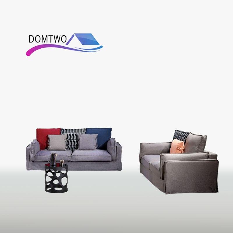 Nordic Simple Cloth Sofa Combination Large Size Washable Sofa Living Room Wholesale