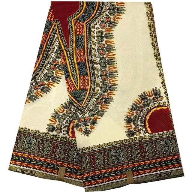 African Danshiki Wax Print Cotton fabric 6yards