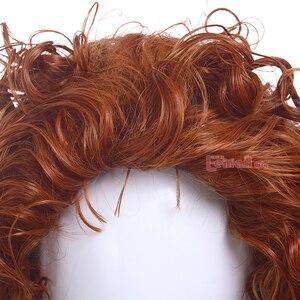 Image 5 - L email perruque synthétique bouclée Orange perruque de Cosplay pour femmes, perruque de film animé princesse courageuse mérida
