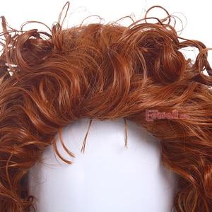 Image 5 - L email 가발 애니메이션 영화 용감한 메리다 공주 코스프레 가발 오렌지 곱슬 합성 머리 페루 카 여성 코스프레 가발