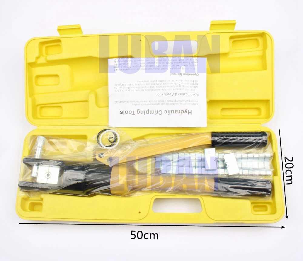 YQK-300 YQK-70 Palette 4-70MM2 10-300MM crimpen palette Hydraulische crimpen werkzeug 12T druck Kabel Lug Presse Kabel terminal