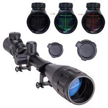 6-24x50 Aoe Riflescope Регулируемый зеленый красный точечный охотничий свет тактический прицел Сетка оптический прицел
