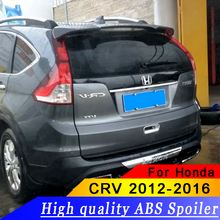 100% fit car model high ABS material rear spoiler For Honda CRV CR-V car rear window spoiler primer color or white or black