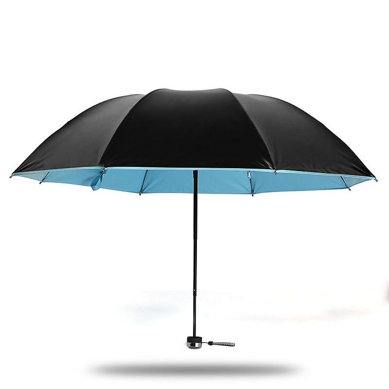Full Blackout Rain Umbrella Folding Women Kobold Rain Sun Windproof  Lightweight A+ Quality Chinese Parasol Umbrellas Corporation 5b1097d250a11