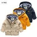 V-tree muchachos de los niños traje de chaqueta de abrigo rompevientos para niños boy casual ropa para niños primavera y verano