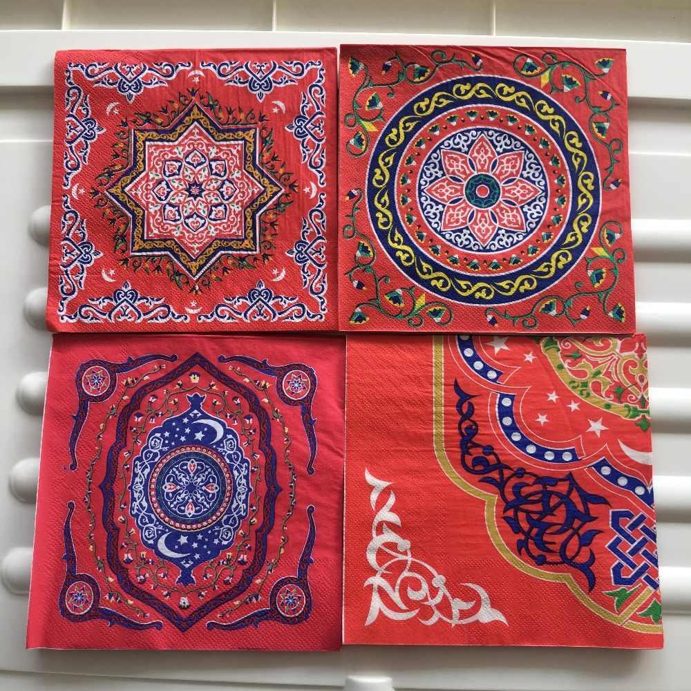 5 Papel Fiesta Servilletas en espera de Navidad Paquete de 5 3 capas tejido Servilletas