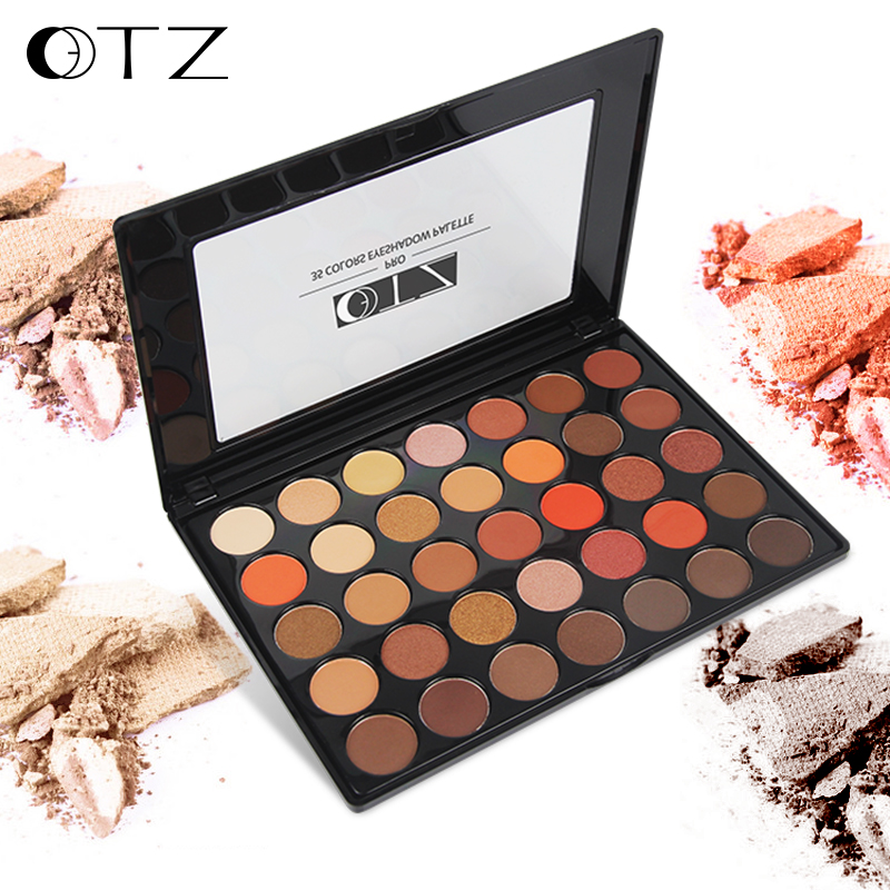 35 Colors Eye Shadow Palette Make up Palatte Matte Shimmer Matellic Eyeshadow Palette Waterproof Beauty Makeup Set TZ Brand 35 color plum eyeshadow palette professional matte shimmer eye shadow cosmetics make up for eyes