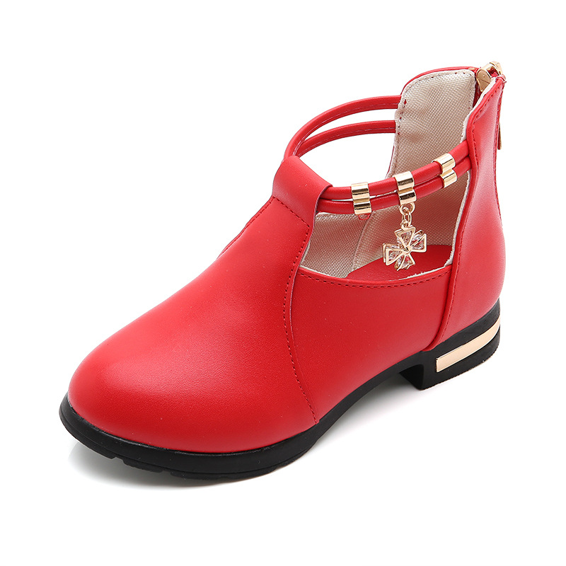 2018 Spring Autumn Baby Girls Leather Shoes Fashion Style Princess Party Shoes Beautiful Student Childrens Leather Shoes