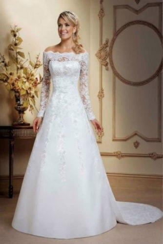 Detachable Skirt Long Sleeve Lace 2018 Satin Lace Beading Gorgeous Bridal Gown Vestido De Noiva Mother Of The Bride Dresses
